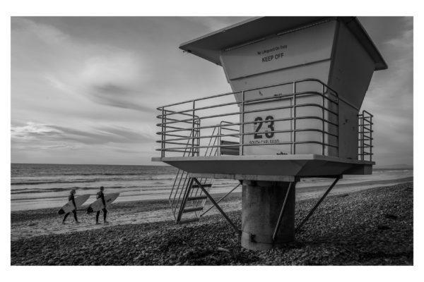 Carlsbad Lifeguard Tower - White Border