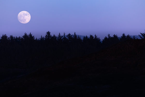 Moon Rise Over Cap Blanco - Web Size (1 of 1)