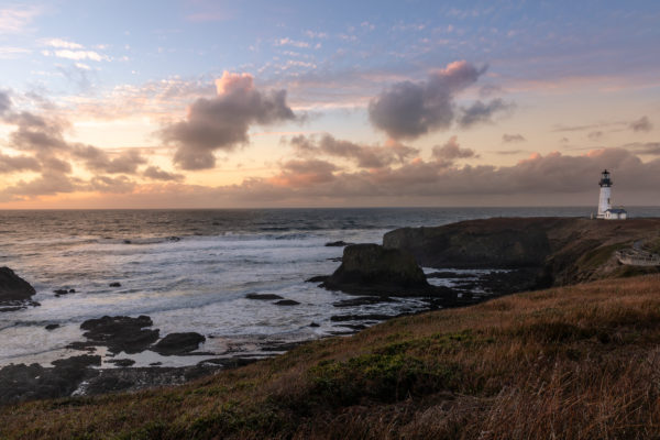 Yaquina Head Lighthouse at Sunset - Web Size (1 of 1)-2